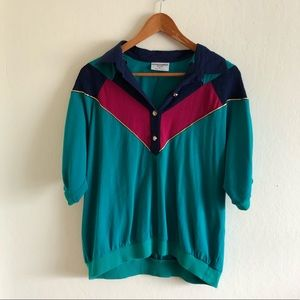 Vintage Alfred Dunner Multi Colored Blouse